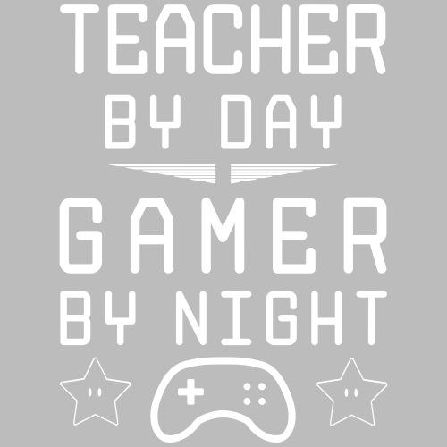 teacher by day gamer by night - Männer Premium T-Shirt