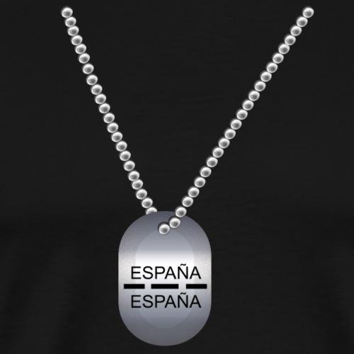 PLACA IDENTIFICACIÓN ESPAÑOLA - Camiseta premium hombre