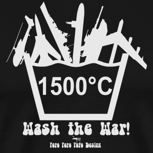 Wash the war (weiß) - Männer Premium T-Shirt