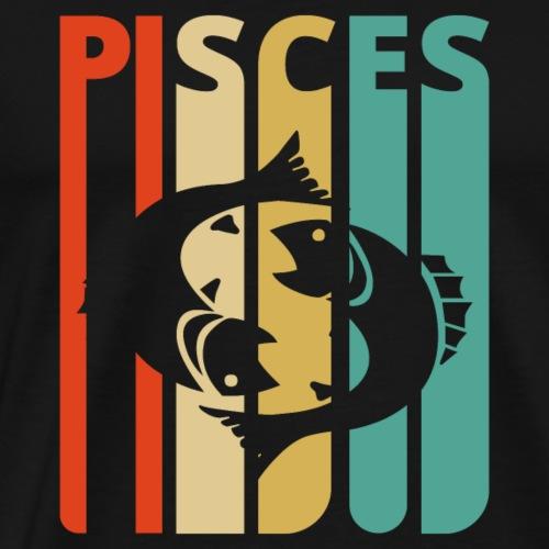 Vintage Pisces Zodiac Gifts for family & friends - Men's Premium T-Shirt