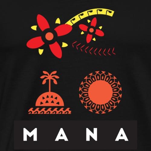 Mana Surf Sun Sea Flowers and Love by Te-Moana - Männer Premium T-Shirt