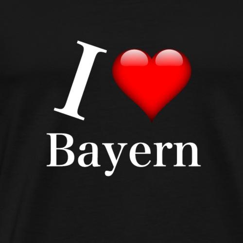 I LOVE Bayern white - Männer Premium T-Shirt