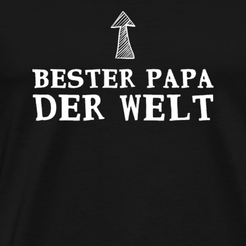 Geschenke zum Vatertag, Geburtstag - Bester Papa - Männer Premium T-Shirt