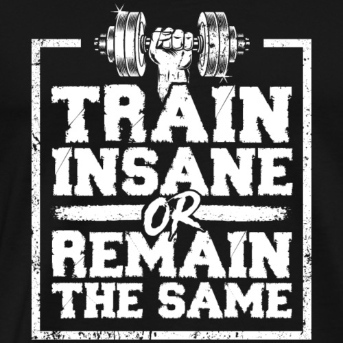 TRAIN INSANE OR REMAIN THE SAME Fitness Gym Wear - Männer Premium T-Shirt