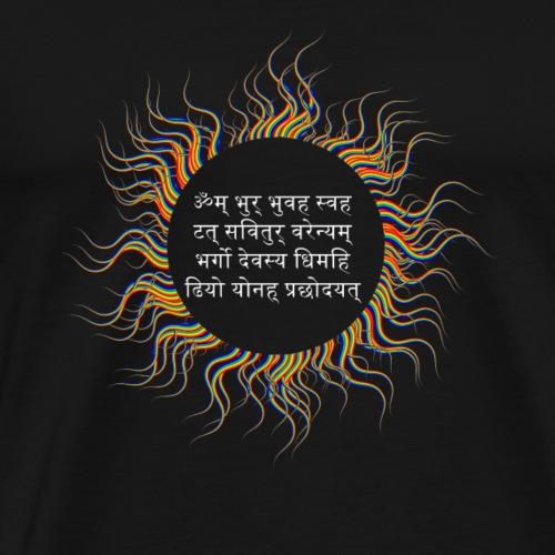 Gayatri Sonnen Mantra - Männer Premium T-Shirt