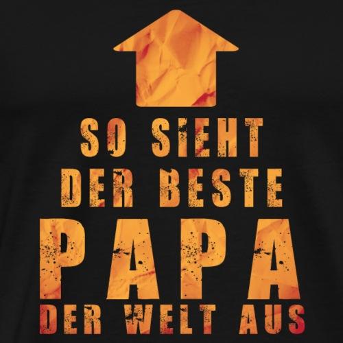 so sieht der beste papa der welt aus papa vater - Männer Premium T-Shirt