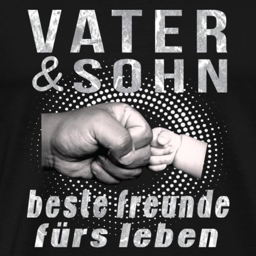 vater sohn beste freunde furs leben - Männer Premium T-Shirt