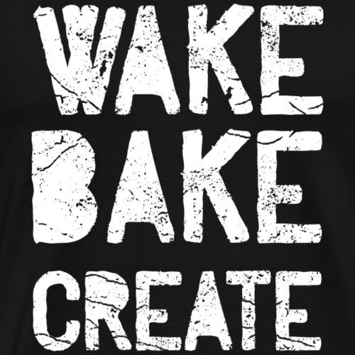 Wake Bake CREATE - Männer Premium T-Shirt