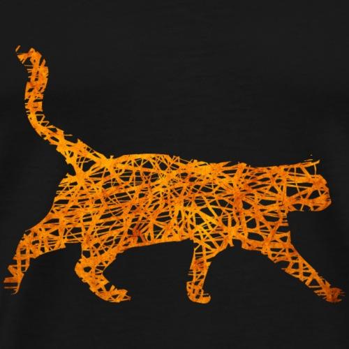 Katze Kätzchen Mieze Orange Geschenk Geschenkidee - Männer Premium T-Shirt