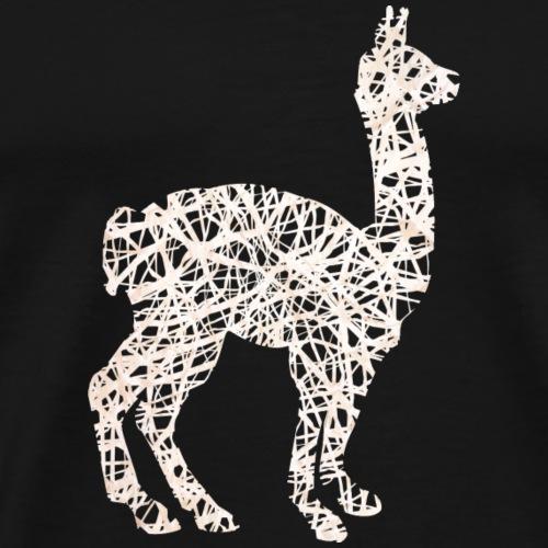 Lama Alpaka #1 Weiß Geschenk Geschenkidee - Männer Premium T-Shirt
