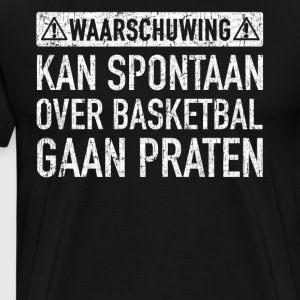 Basketbal Design Cadeau - Mannen Premium T-shirt