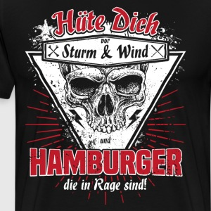Hamburger in Rage - Männer Premium T-Shirt