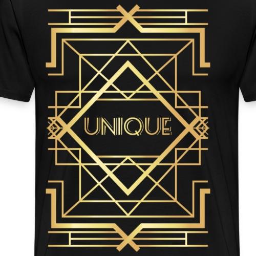 First Golden Geometric - Men's Premium T-Shirt