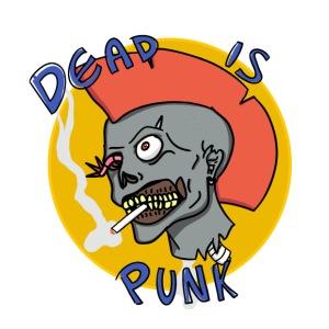 Dead is punk. - Men's Premium T-Shirt