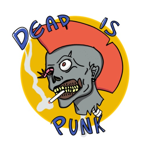 Dead is punk. - Men's Premium T-Shirt