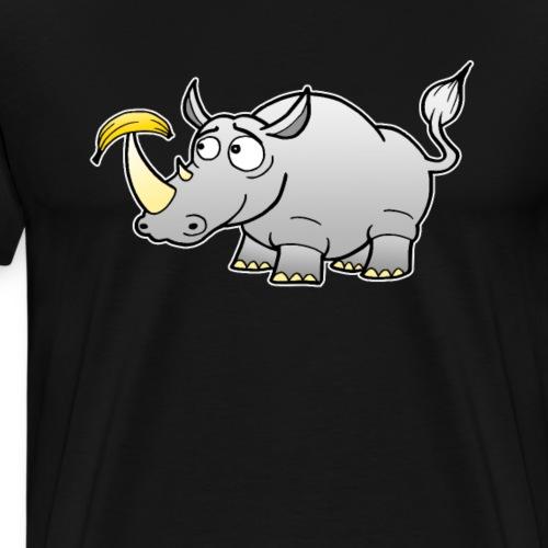 Nashorn Banane Vegan Comic Geschenk - Männer Premium T-Shirt
