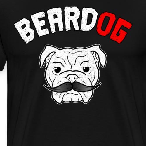Bart Hund Barbier Bulldog Männer Geschenk - Männer Premium T-Shirt