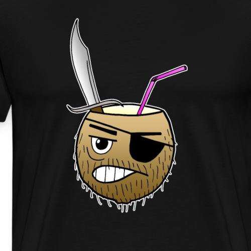 Kokosnuss Pirat Barkeeper Urlaub Comic Geschenk - Männer Premium T-Shirt