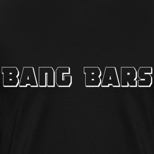 BangBars-Shirt - White Print - Men's Premium T-Shirt