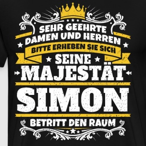 His Majesty Simon - Men's Premium T-Shirt
