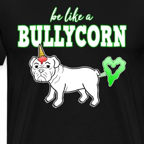 Bullycorn Bulldogge Einhorn Hund lustig Geschenk - Männer Premium T-Shirt