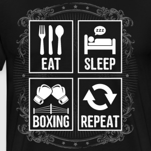 EAT SLEEP BOXING REPEAT - Männer Premium T-Shirt