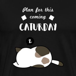 Chilige cat Caturday - Premium-T-shirt herr