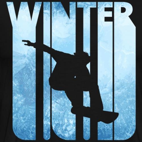 Vintage Winter Sports Snowboarding.Christmas Gift - Men's Premium T-Shirt