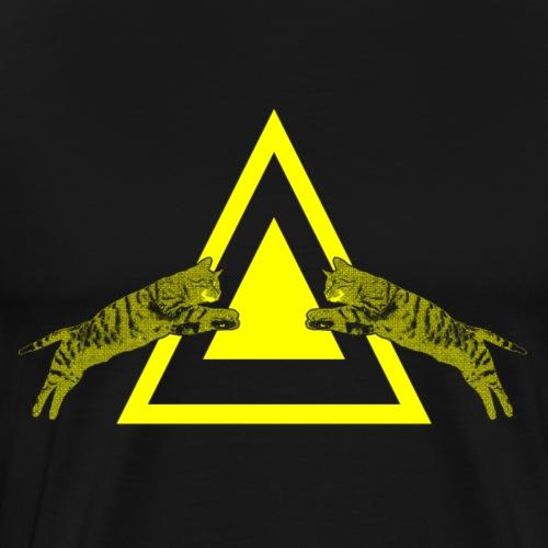 Triangogatto - Maglietta Premium da uomo