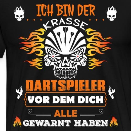Dart Totenkopf - Männer Premium T-Shirt