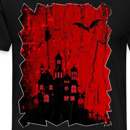 Red Hounted House - Men's Premium T-Shirt