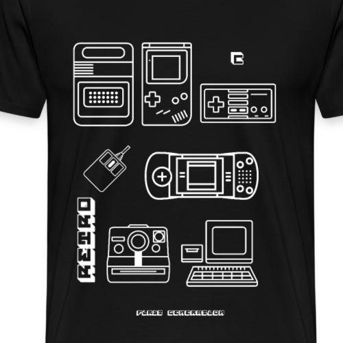 retro games blaupause nerd pc game 8bit konsole lo - Männer Premium T-Shirt
