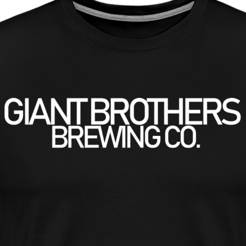 Giant Brothers Brewing co white - Premium-T-shirt herr