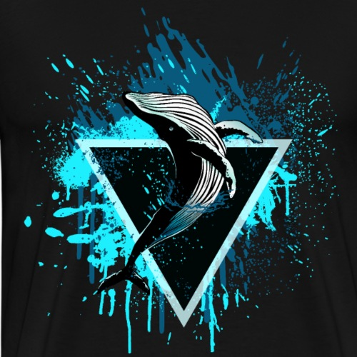 Wal mit Dreieck - Männer Premium T-Shirt