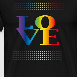 love love colorful rainbow gay pride csd valentins - Men's Premium T-Shirt