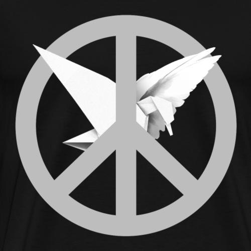 Peace is man-made (Origami dove) - Miesten premium t-paita