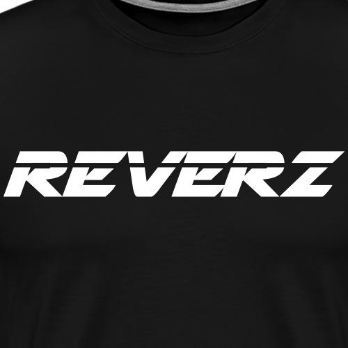 REVERZ LOGO WHITE - Männer Premium T-Shirt