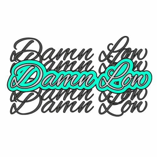 Low Logo v2 blue 4 - Männer Premium T-Shirt