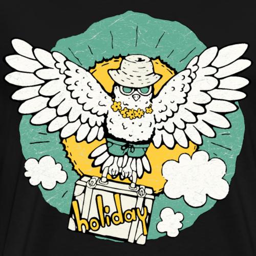 Vogel fliegt in den Urlaub - Männer Premium T-Shirt