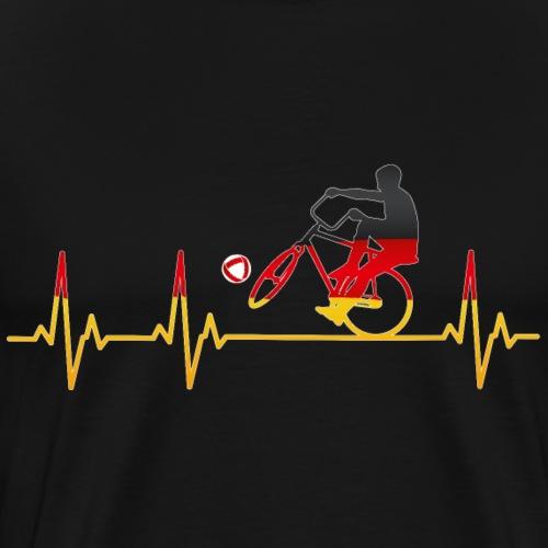 Radball | Cycleball Heart Monitor Germany - Männer Premium T-Shirt