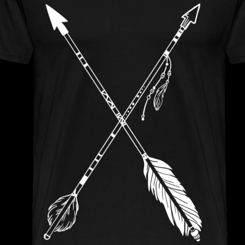 Indianer Pfeile - Männer Premium T-Shirt