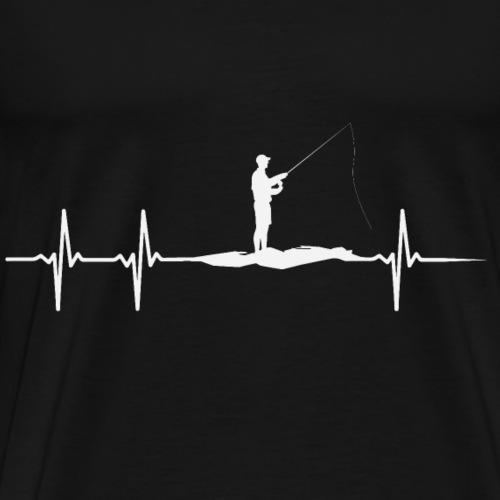 Herzschlag eines Anglers - Männer Premium T-Shirt