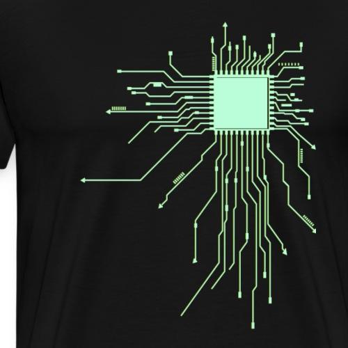 platine Core cpu Computer Nerd pc humor geek Gift - Männer Premium T-Shirt