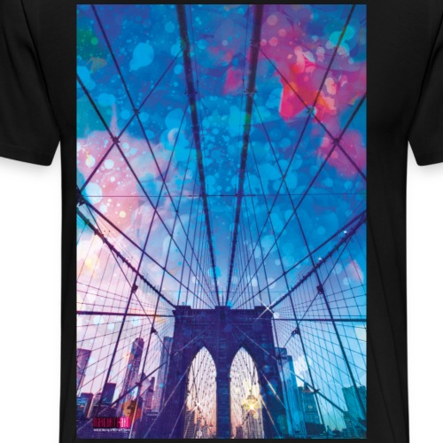 01 Brooklyn Bridge Poster Margarita Art - Männer Premium T-Shirt