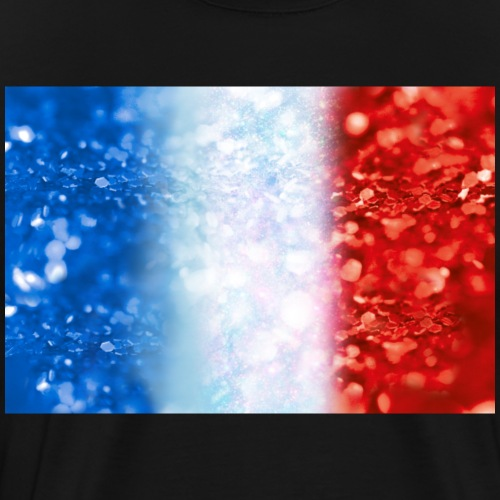 05 Frankreich Flagge Glitzer Poster Shirt Geschenk - Männer Premium T-Shirt