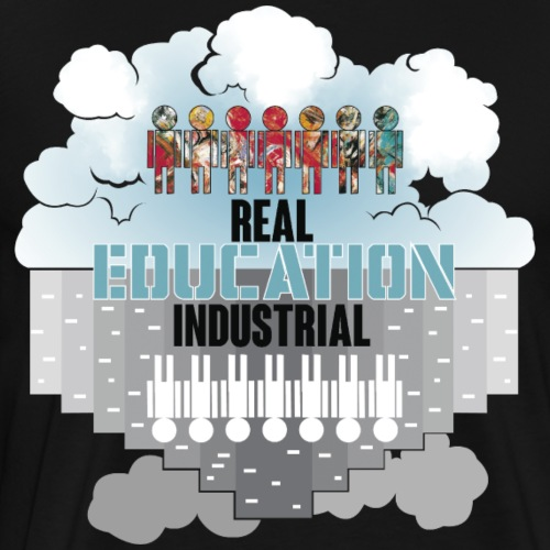 Real Education vs. Industrial Education - Camiseta premium hombre