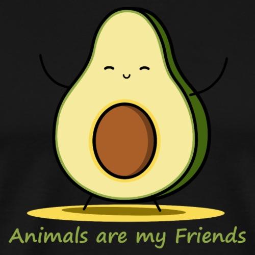 Die kleine Avocado liebt Tiere über alles - Männer Premium T-Shirt