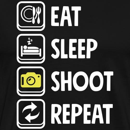 Eat Sleep Shoot repeat Photography Camera - Männer Premium T-Shirt