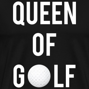 Queen of Golf - Premium T-skjorte for menn