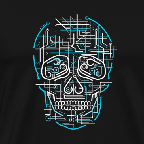 electric skull tshirt ✅ - Männer Premium T-Shirt
